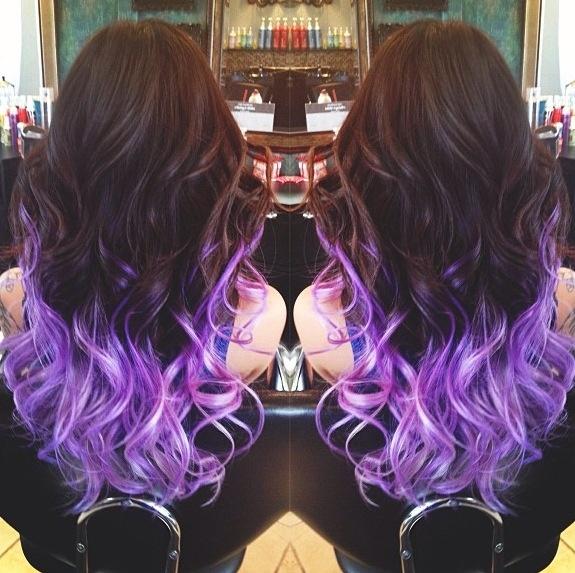 Purple ombré #purple #ombre #hair #fashion