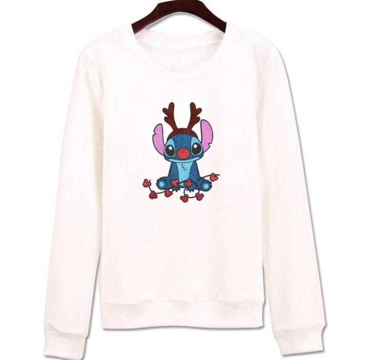 Disney Stitch Long Sleeve Sweater Lilo and Stitch Cartoon