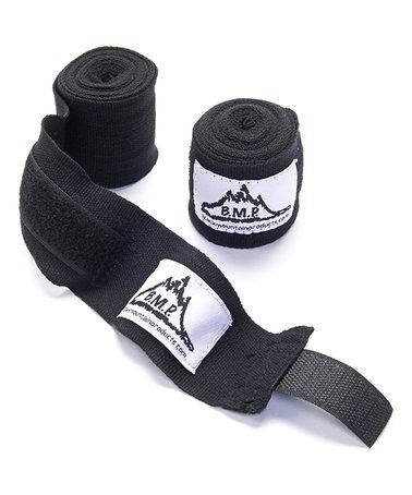 Look what I found on #zulily! Black Professional Boxing & MMA Hand Wrist Wrap - Set of Two #zulilyfinds