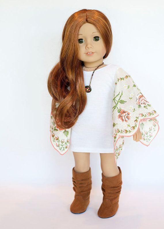 American Girl Doll outfit  boho hanky tunic by EverydayDollwear