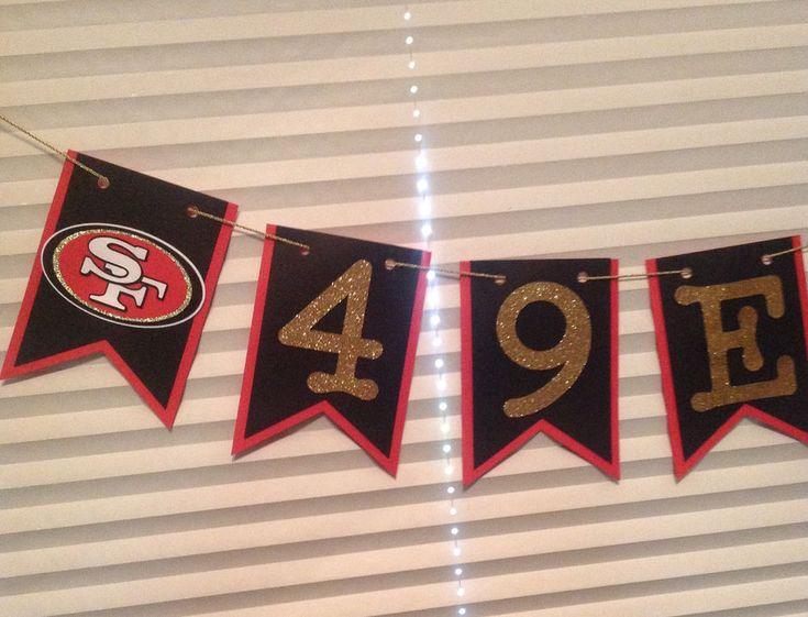 Nfl San Francisco 49ers Banner - 49ers Banner - 49ers Birthday - 49ers Party Dec #Handmade #SanFrancisco49ers