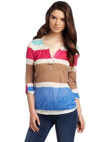 Splendid Women's One Button Henley Shirt Splendid. $88.00. Tabbed sleeve. Hand Wash. Button on neckline. 100% Micro Modal. Made in USA