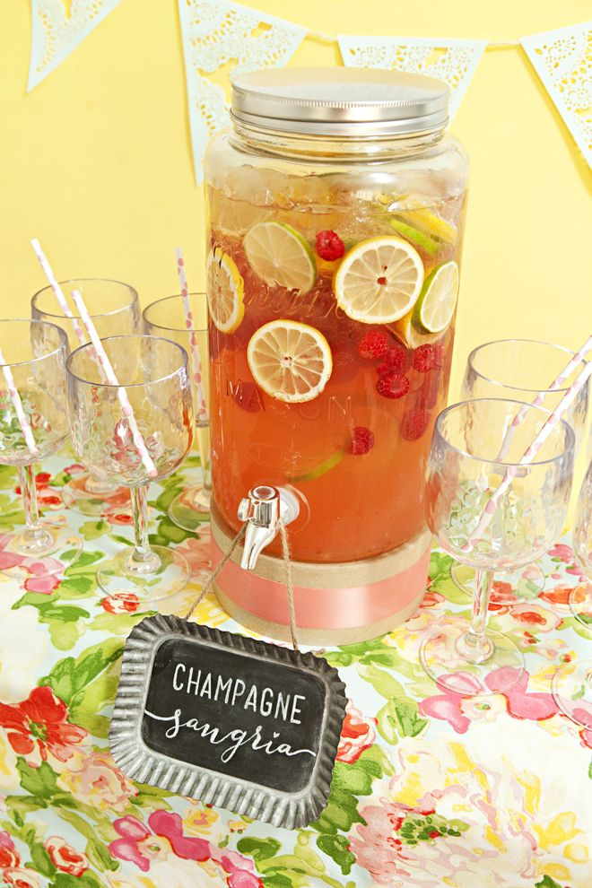 Delicious and simple Champagne Sangria Recipe                                                                                                                                                                                 More