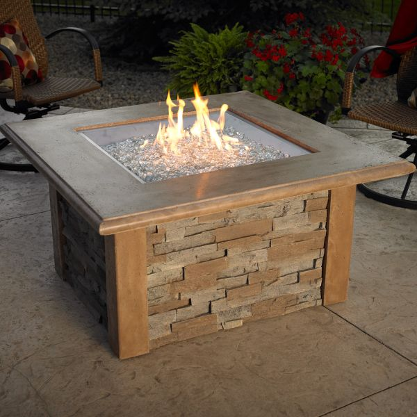 Sierra Fire Pit Table - Square | Fire pit table, Square ...