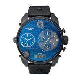Diesel Herren-Armbanduhr XL Mr. Daddy Multi Movement Analog – Digital Quarz Leder DZ7127 - aus den knallschwarrz.com Shopping-Tipps