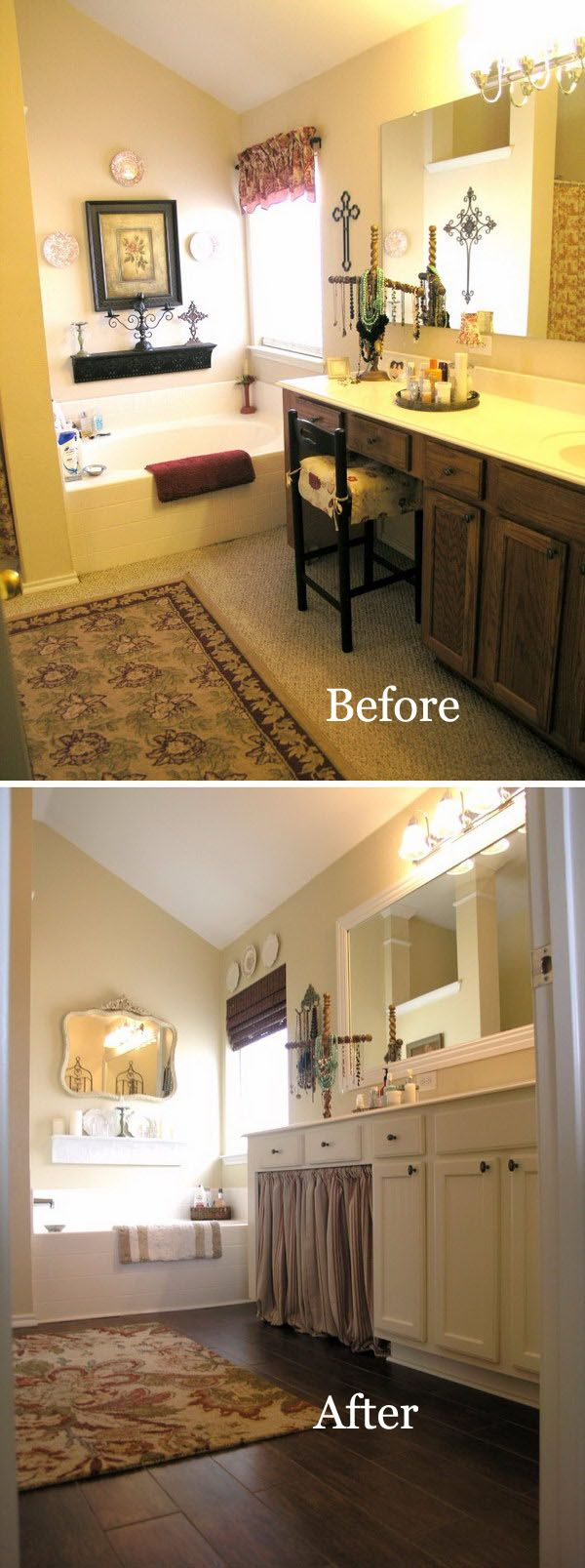 From Dark and Dirty to Bright and Clean Master Bathroom Transformation.