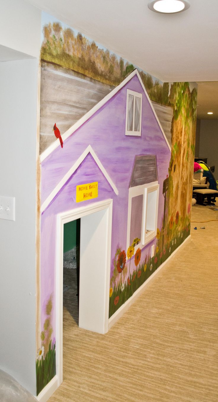 31 Best Inspirational Playhouse Murals Images On Pinterest Playhouse Ideas Playhouses And Stairs