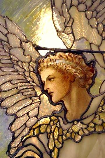 Beautiful!!  Guardian Angel Stained Glass Window