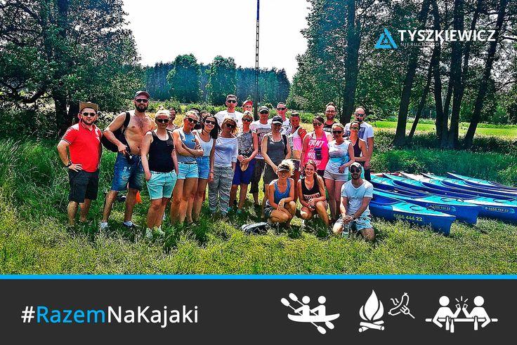 Kolejna letnia impreza firmowa za nami! Ekipa Tyszkiewicz Nieruchomości spływem kajakowym na Kaszubach przywitała lato. Była prawdziwa adrenalina, pyszne jadło i świetna zabawa!   #tyszkiewicz #nieruchomosci #przygoda #impreza #razemnajlepiej