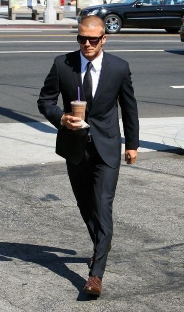 black suit brown shoes - Google Search