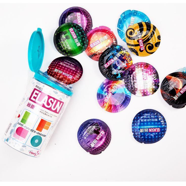 Elasun ultra ince prezervatif 5 in 1 serisi doğal lateks kauçuk prezervatif erkekler için 5 türleri 24 adet