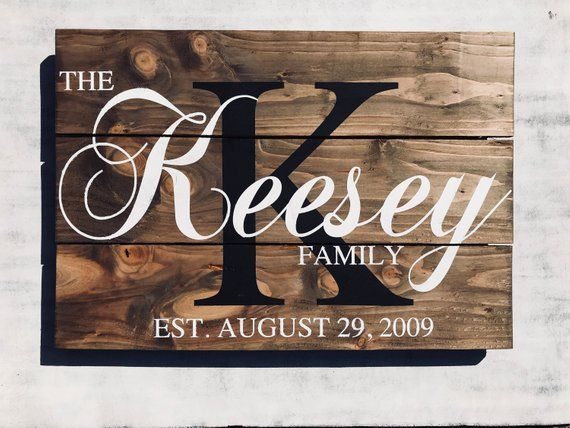 Farmhouse Family Established Wood Signs Personalized Family Etsy Family Wood Signs Wooden Family Signs Wooden Signs Diy