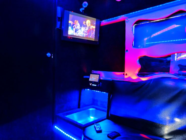 LED strips and RGB controller used in a party bus.