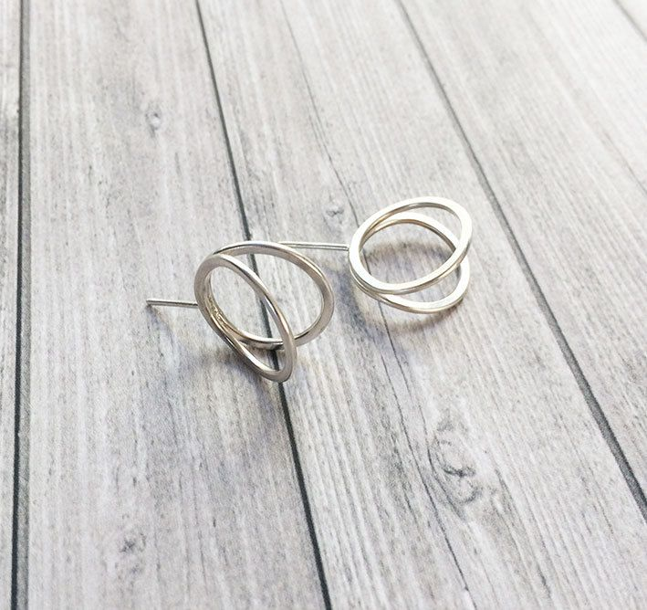 Excited to share the latest addition to my #etsy shop: Stud circle silver earrings - open ring earrings -geometric jewelry -minimalist circle earrings -contemporary jewellery -3D circle earrings http://etsy.me/2oXF0gN #jewelry #earrings #silver #geometric #girls
