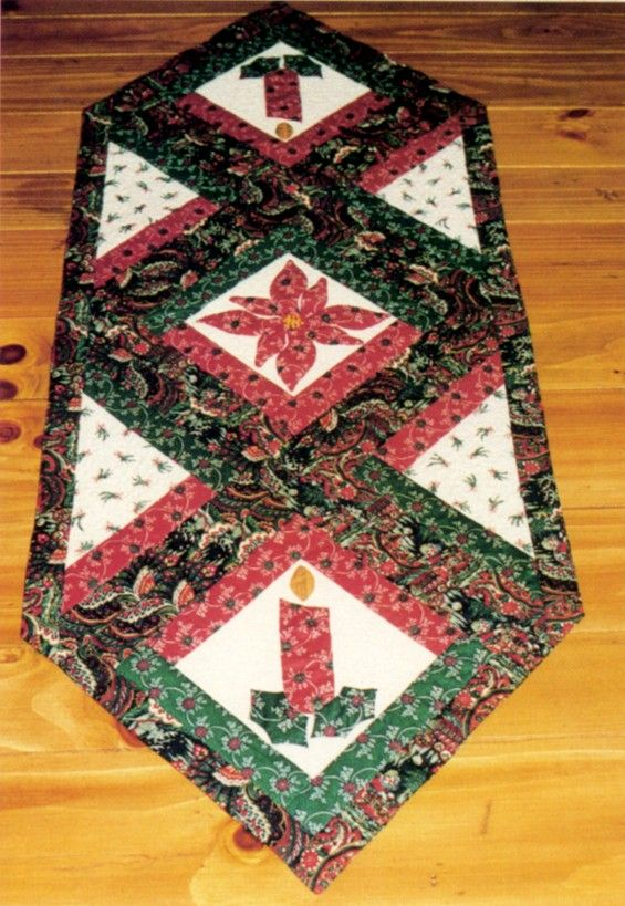 18 best images about quilts table runners on pinterest for Round table runner quilt pattern