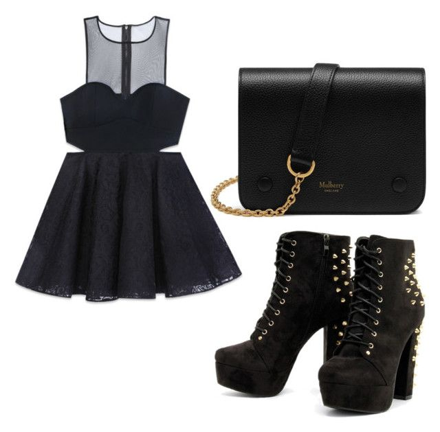 """Untitled #49"" by kristyna-r on Polyvore featuring Bebe and Mulberry"