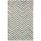 Found it at Wayfair - Chelsea Light Blue & Ivory Chevron Area Rug