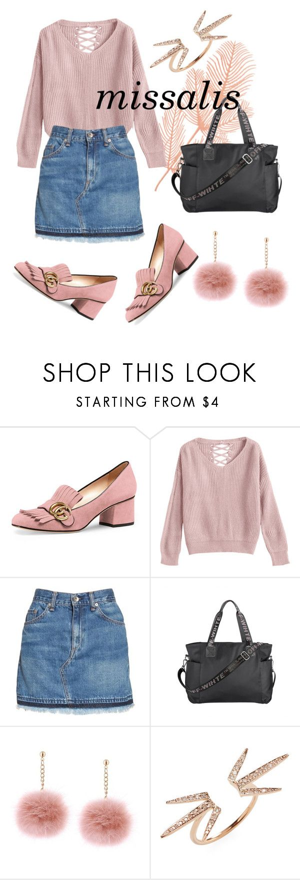 """""""missalis pink autumn"""" by wodluckbeens on Polyvore featuring Gucci, rag & bone/JEAN and Jacquie Aiche"""