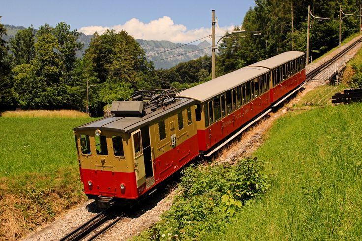 Ferrovia elettrica della Schynige Platte a scartamento 800 mm e cremagliera Riggenbach che collega Wilderswil con lo Schynige Platte - (Foto: Riccardo Genova)