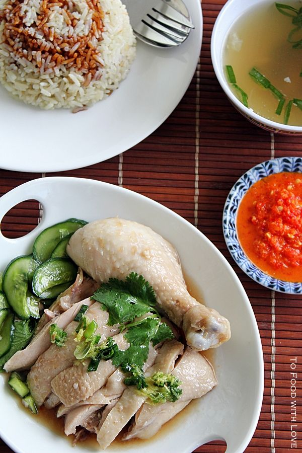 I wrote a post on Hainanese chicken rice sometime last year, though without the detailed recipe. Before I go on, let me just say tha...