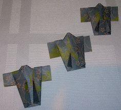 Yellow Origami Bird: Origami Kimono Instructions