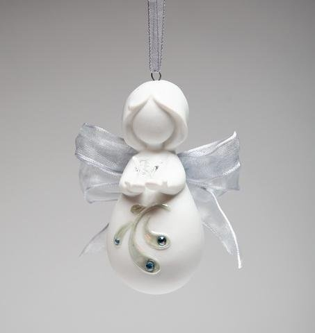 white praying angel ornament
