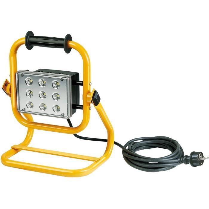 BRENNENSTUHL Projecteur LED portable ML903 IP55 5m H07RN-F 3G1,0 9x3W 1675lm - Achat / Vente BRENNENSTUHL Projecteur LED Aluminium injecté - Cdiscount