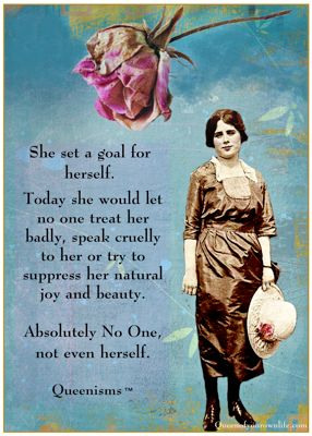 She set a goal for herself...