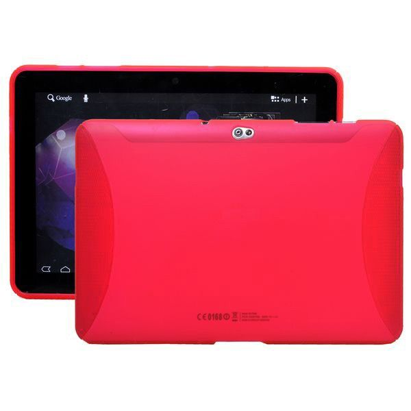 TPU Muovinen (Punainen) Samsung Galaxy Tab 10.1 P7500 Suojakuori
