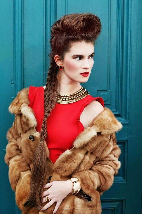 #Fashion #makeup #red