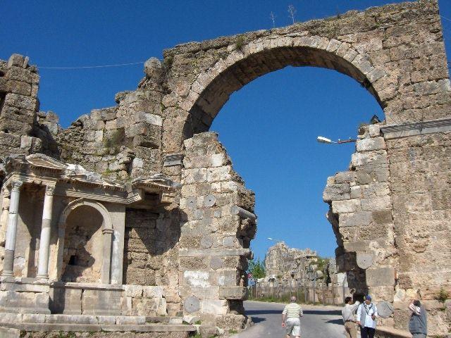 Great Gate in Side, Turkey