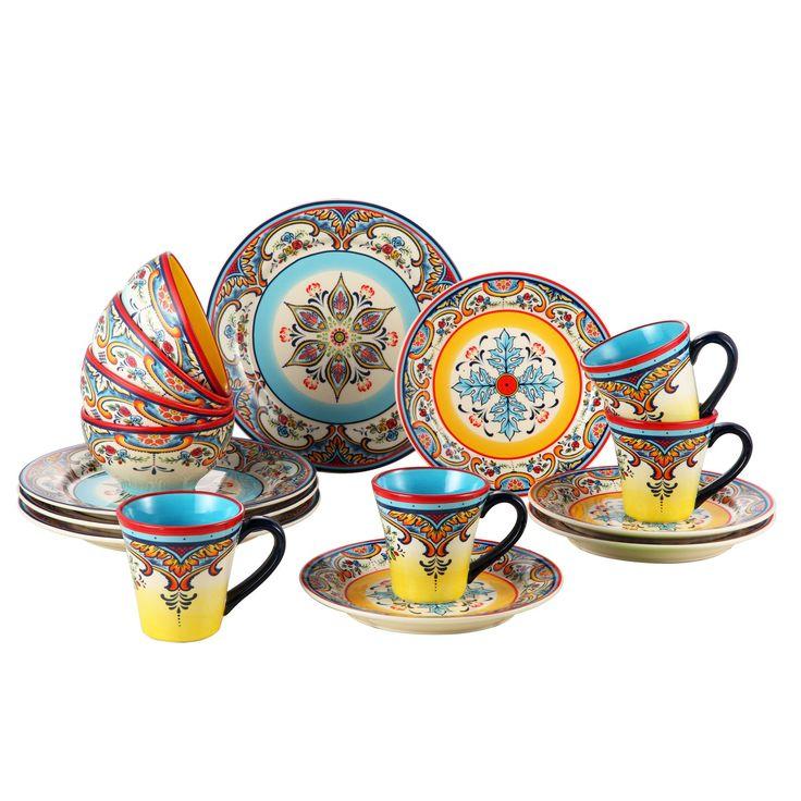 Euro Ceramica Zanzibar 16 Piece Dinnerware Set, Service for 4 & Reviews   Wayfair