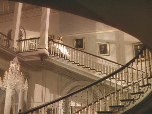 Gone with the Wind - sneaking downstairs at Twelve Oaks to talk to Ashley