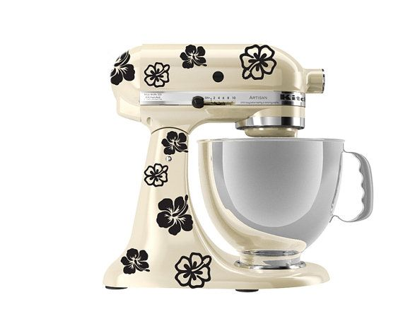 KitchenAid Mixer Art, Hibiscus Flower Decal From Walking Dead Promotions