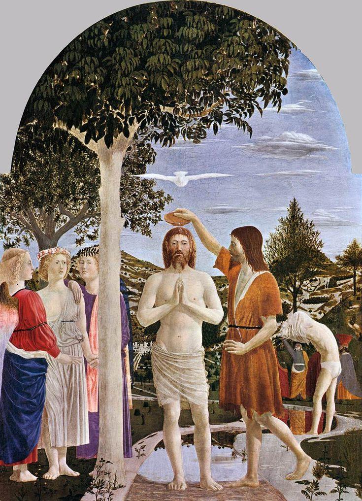 Piero della Francesca, Le Baptême du Christ, 1448-1450, 167 x 116 cm, National Gallery, Londres.