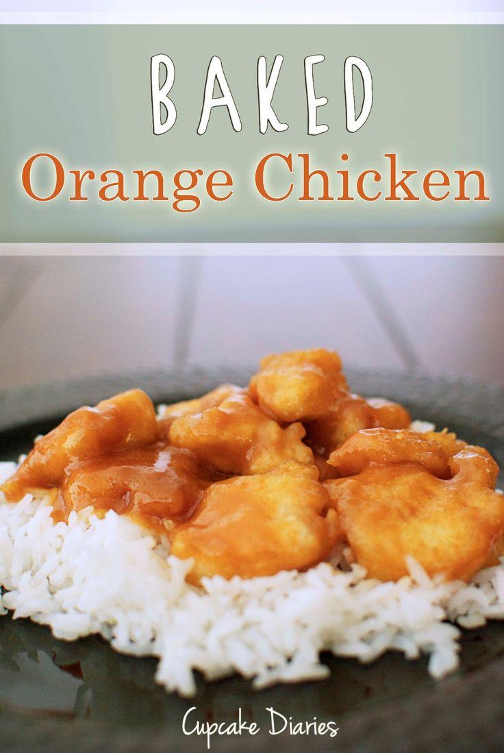 Baked Orange Chicken | cupcakediariesblog.com | #chicken #entree #chinese