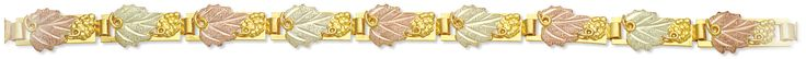 Landstroms Black Hills Gold 10k Gold with 12k Gold leaves Bracelet GLP705