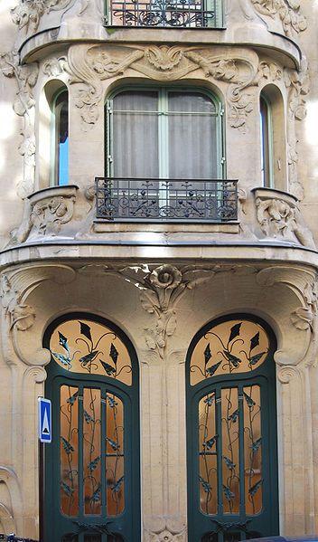 ~Door Art Nouveau (1904), rue du Champ de Mars, 7th district ~*