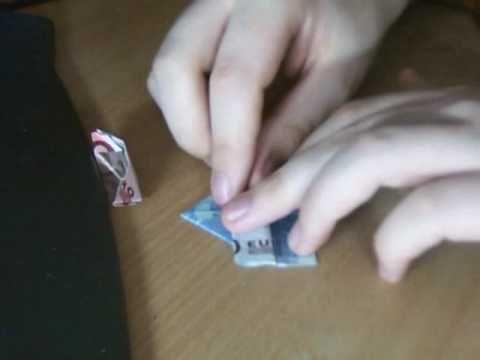 Euro - Schein Origami Boot - YouTube