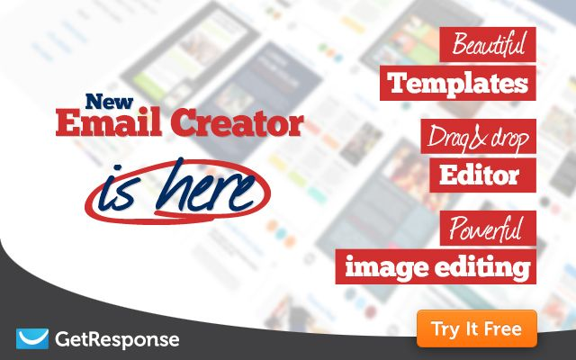 GetResponse Email Marketing 2.0  Try It One Month For FREE