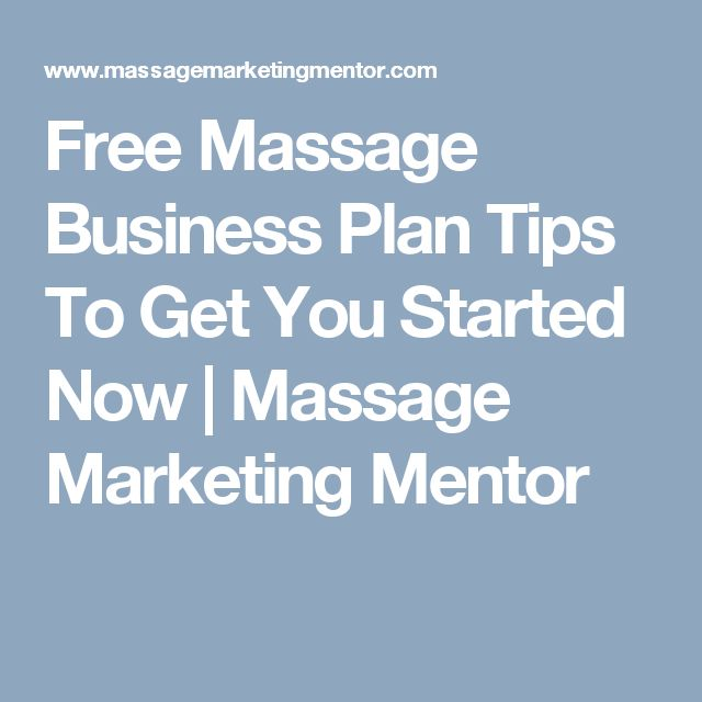 massage therapy business plan goals
