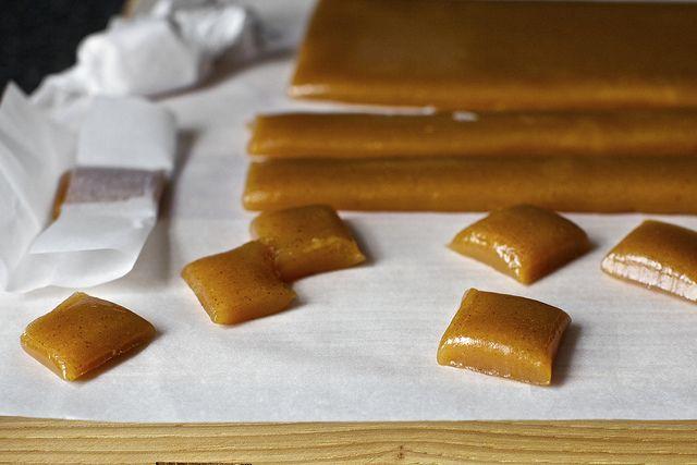 apple cider caramels by smitten, via Flickr (try w honey instead of sugar)