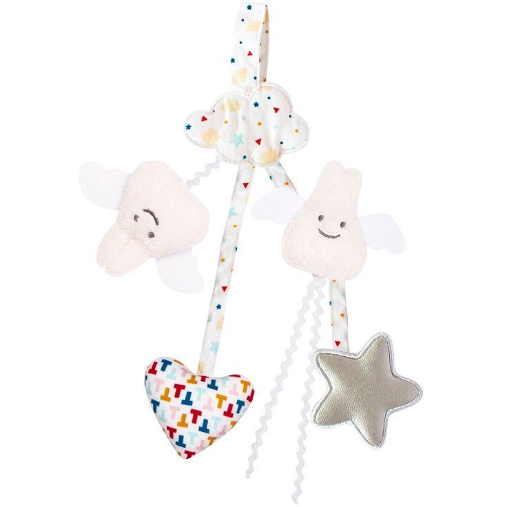 Le hochet porte tétine étoiles (20 cm) par Trousselier est un petit ...