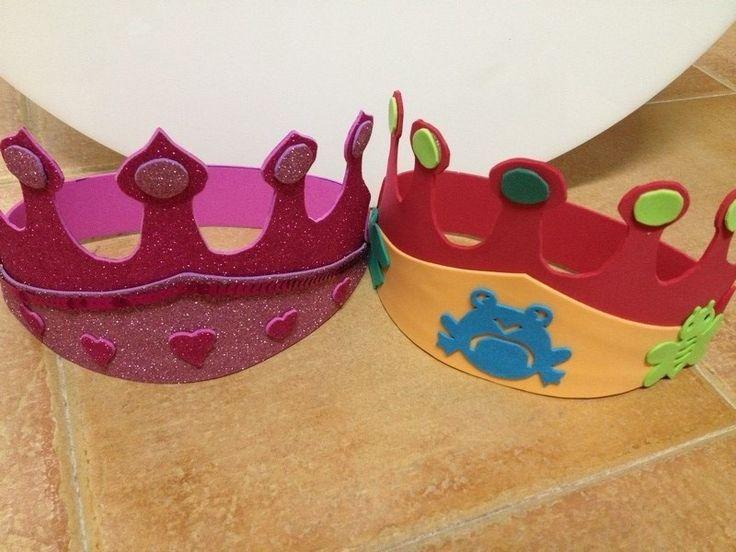 Una idea original para hacer una corona para cumpleaños infantiles o para disfraces de carnaval #diy #handmade #gomaeva