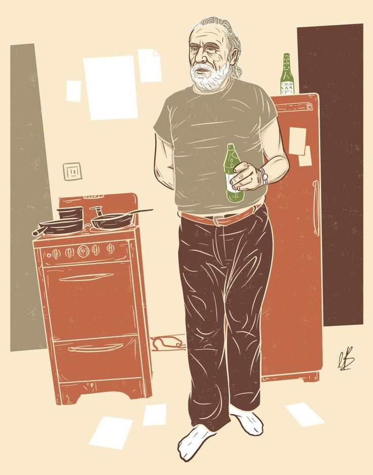 Charles Bukowski #charlesbukowski #writer #author #factotum #art #artwork #graphicart #creative #illustration #wine #beer #sex #drugs