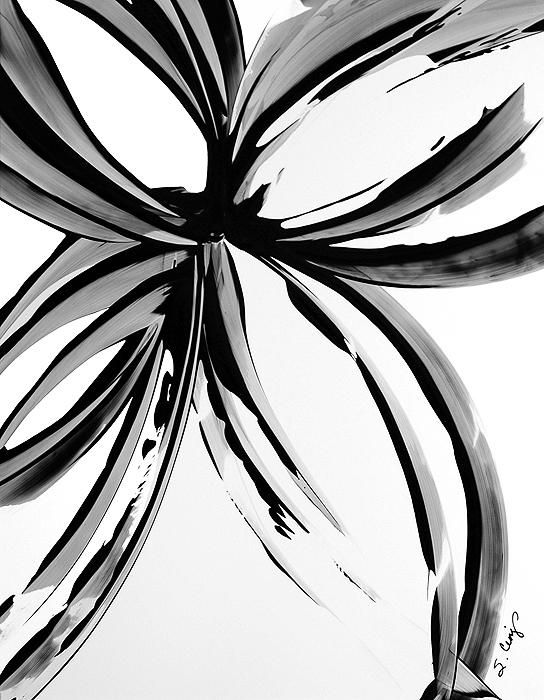 easy black and white paintings the