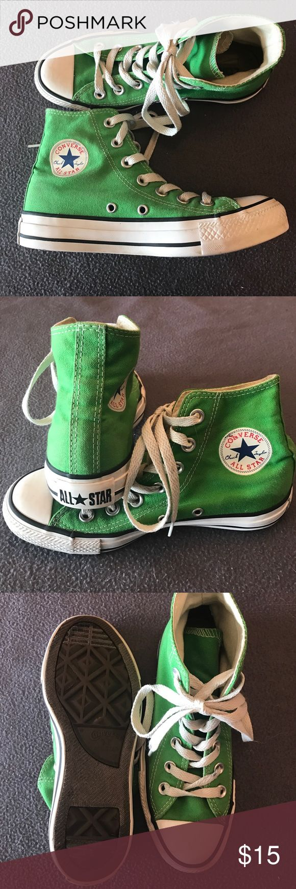 High top green converse High top green converse size 3 Converse Shoes Sneakers