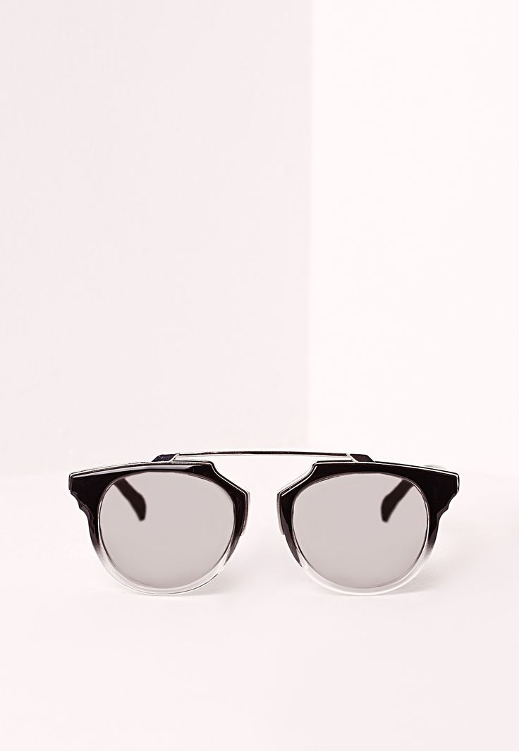 Block Lens Metal Frame Sunglasses Black