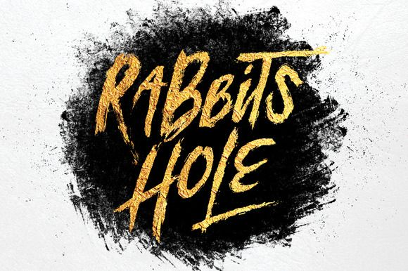 Rabbits Hole Brush Font + Bonus by Maulana Creative on @creativemarket