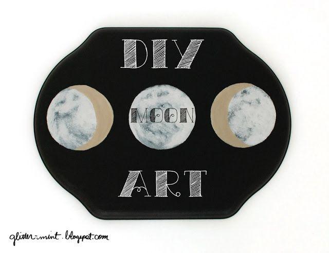DIY moon phase art